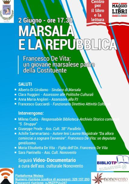 Marsalacelebra la Festa della Repubblica. Domani il convegno su