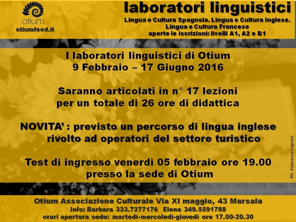 Riaperte le iscrizioni per i laboratori linguistici a otium for Esl soggiorni linguistici opinioni