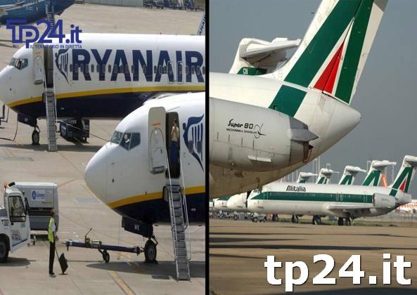 Alitalia contro Birgi e Ryanair: il Tar accoglie il ricorso