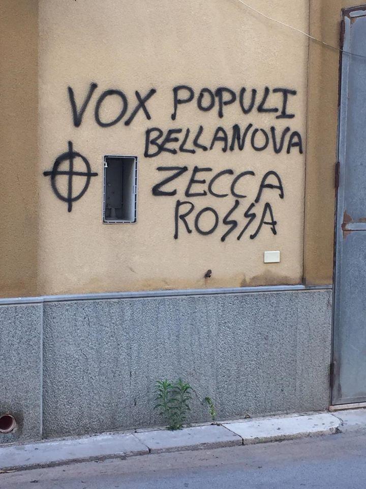 Marsala, in via Cammareri Scurti lafrase becerae di odiocontro laministra Bellanova