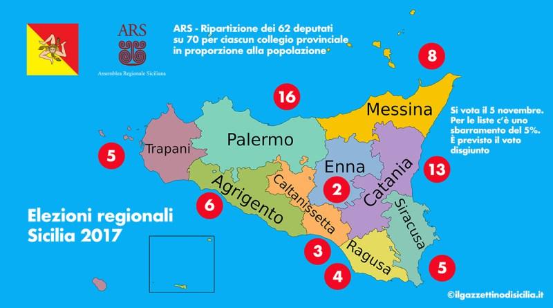 Sicilia 2017 ecco come saranno eletti i 70 deputati regionali for Deputati siciliani