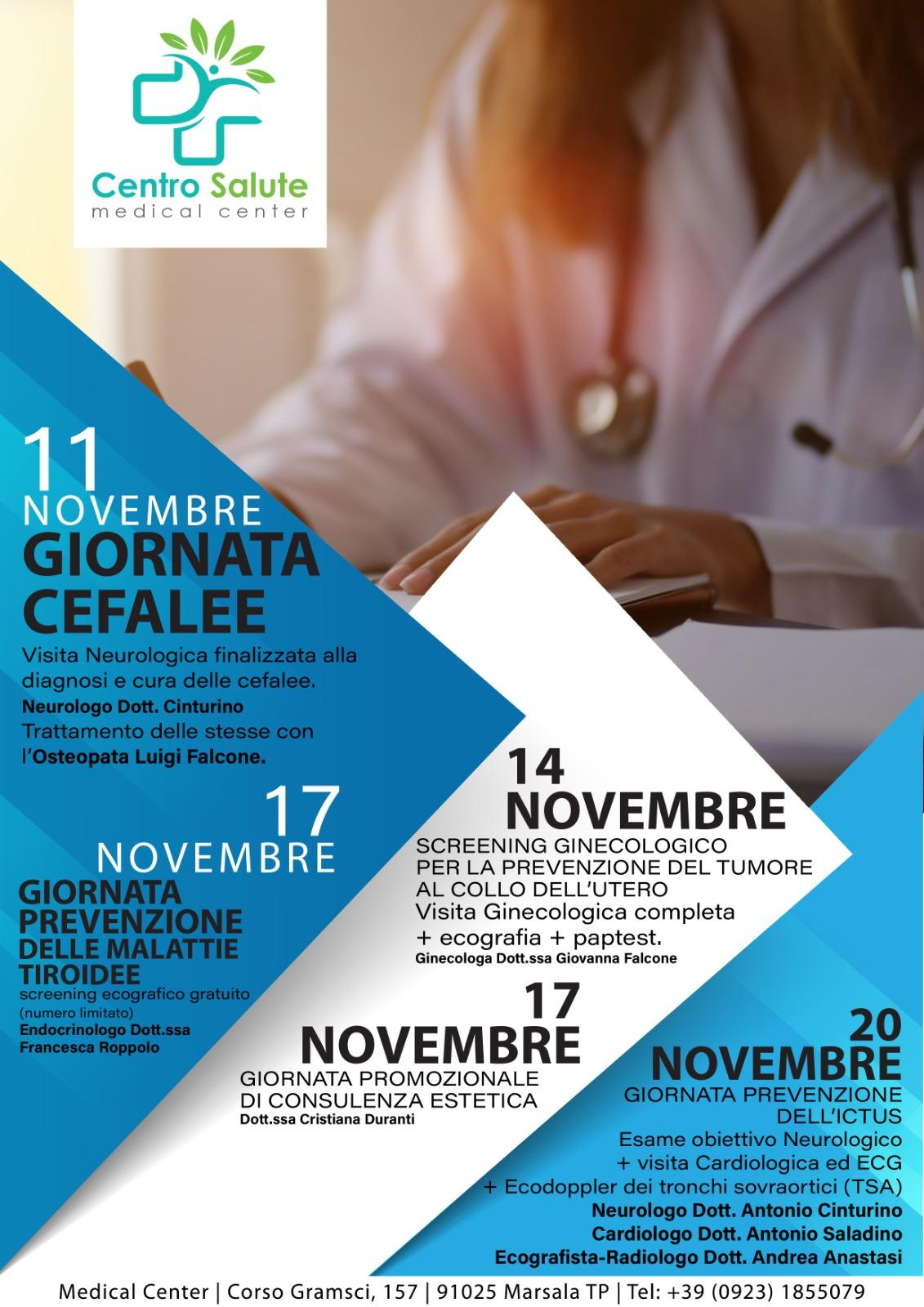 Centro Salute Ortopedia E Medical Center Giornate Dedicate Alla Prevenzione Tp24 It