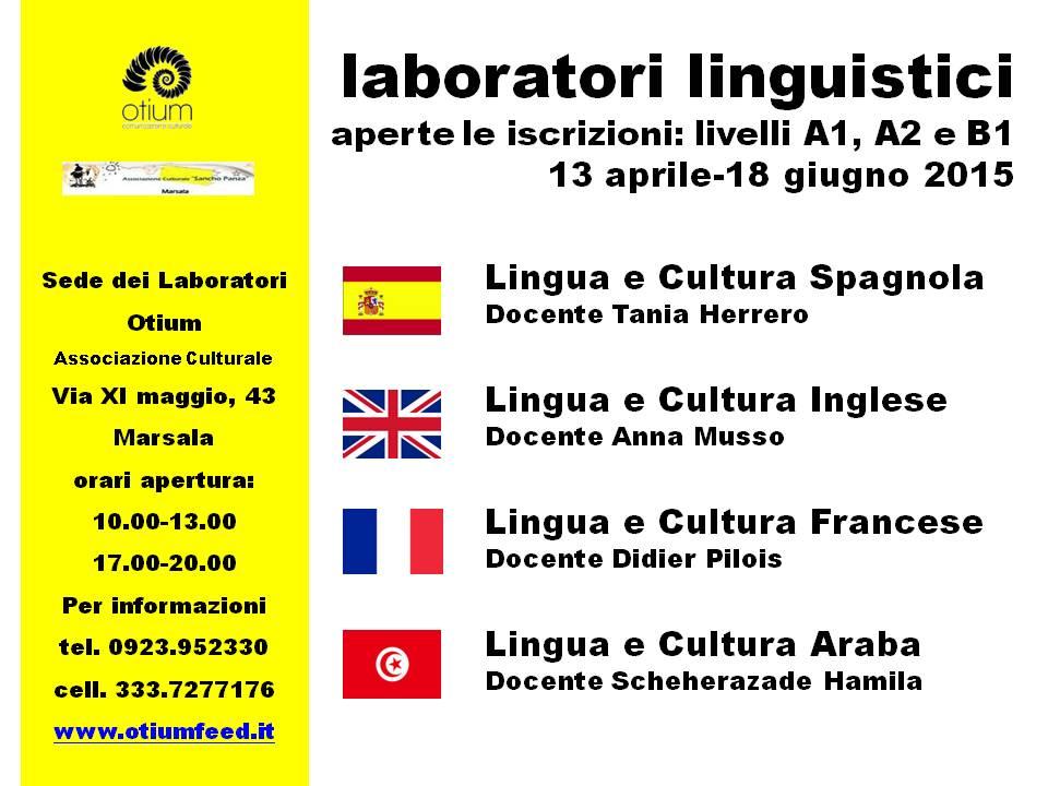 Riprendono i laboratori linguistici di otium a marsala for Esl soggiorni linguistici opinioni