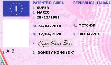 Foto patente di guida 54