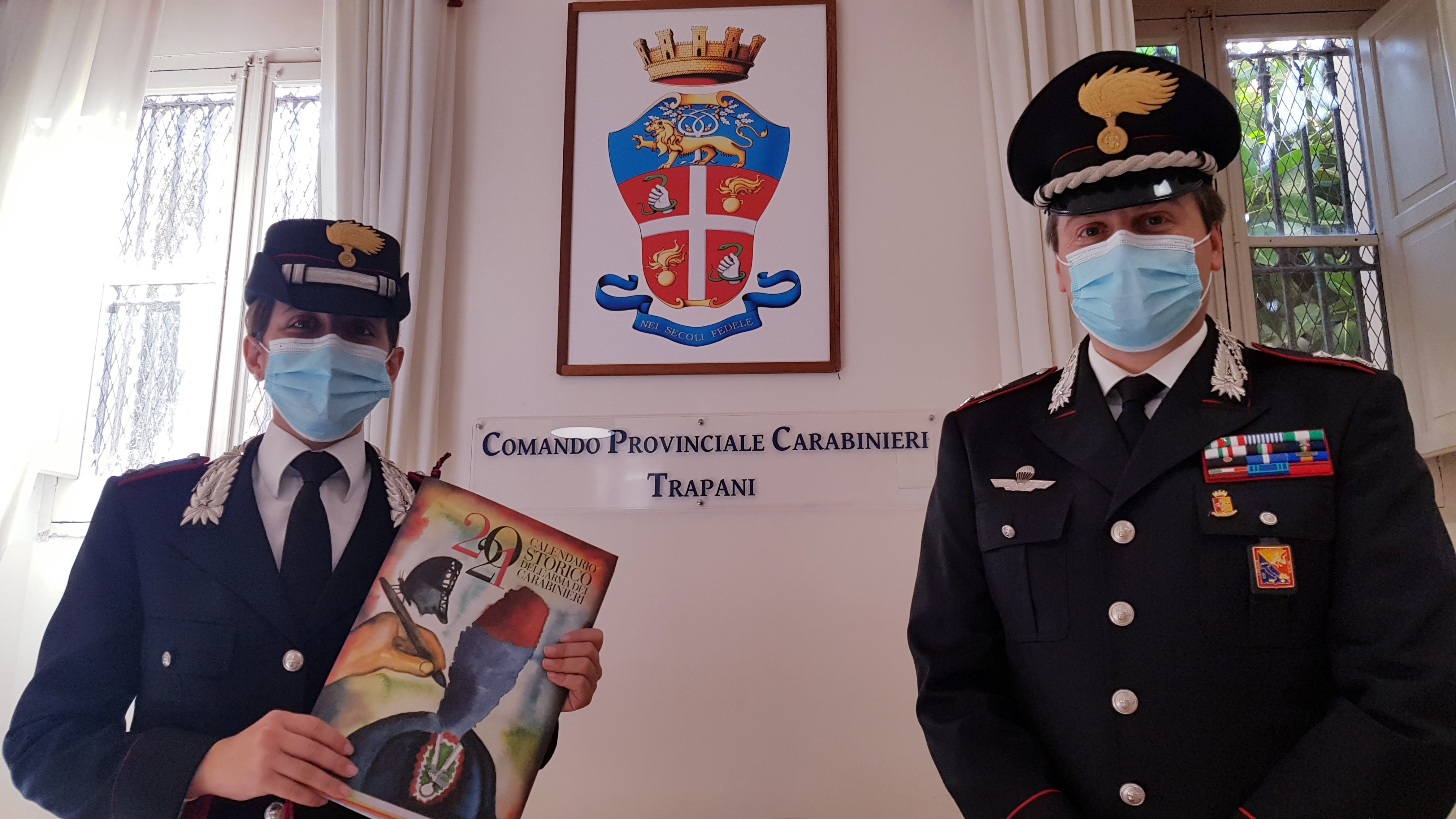 I Carabinieri di Trapani hanno presentato il Calendario e l'Agenda