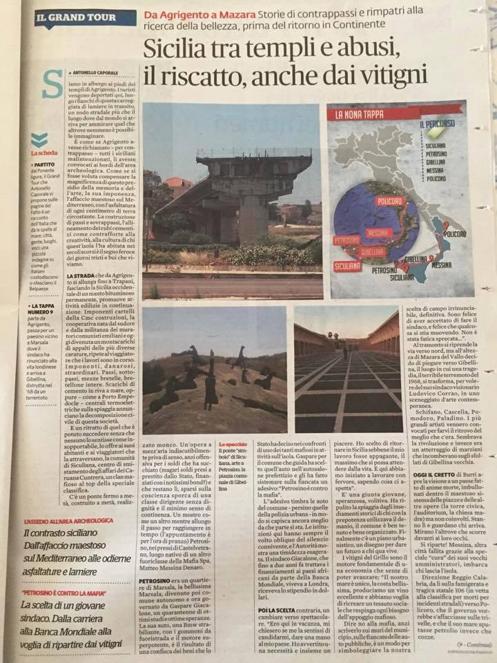 Petrosino Sul Fatto Quotidiano Di Oggi In Un Reportage Di Antonello