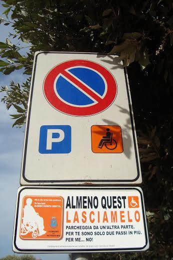 A petrosino la campagna di sensibilizzazione a tutela del for Disegni di posto auto coperto in piedi