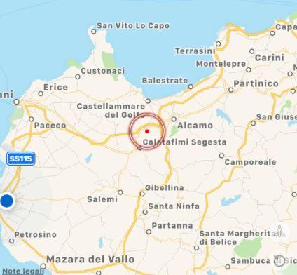Lieve scossa di terremoto a Calatafimi Segesta