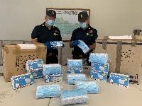 Sicilia, sequestrate 443 mascherine non sicure in un negozio di articoli per la casa