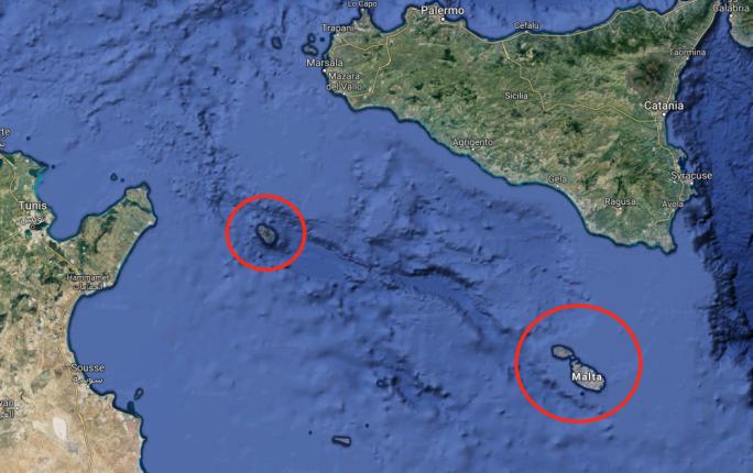 Risultati immagini per mappa malta pantelleria