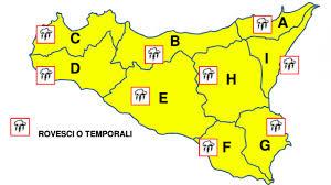 Meteo, pioggia: allerta gialla per oggi in tutta la Sicilia