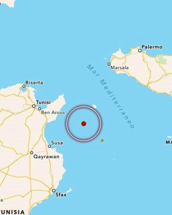 Terremoto tra Tunisia e Sicilia Trema anche tutto il Mediterraneo